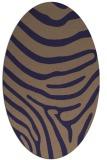 rug #1135927   oval beige stripes rug