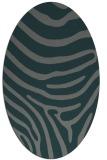 rug #1135951   oval green animal rug