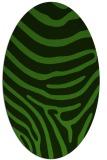 rug #1135963 | oval light-green animal rug