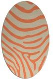 rug #1136039 | oval orange rug