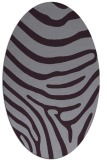 rug #1136075 | oval purple animal rug