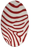 rug #1136087 | oval red stripes rug