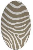 rug #1136135 | oval beige stripes rug