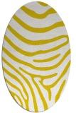 rug #1136147   oval yellow animal rug