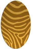 rug #1136151 | oval light-orange stripes rug
