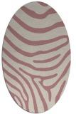 rug #1136179 | oval pink animal rug