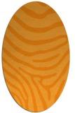 rug #1136183 | oval light-orange animal rug