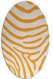 rug #1136187 | oval light-orange animal rug
