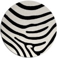 rug #1136563 | round white stripes rug