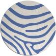 rug #1136607 | round blue animal rug