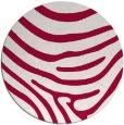 rug #1136675 | round red stripes rug