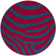 rug #1136679 | round blue-green animal rug