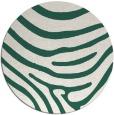 rug #1136691 | round green animal rug