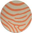 rug #1136775 | round orange rug