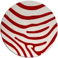 rug #1136815 | round red animal rug