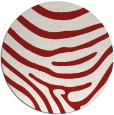rug #1136823 | round red animal rug