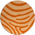 rug #1136835 | round red-orange animal rug