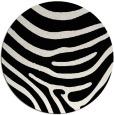 rug #1136847 | round black stripes rug