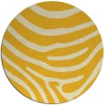 rug #1136875 | round yellow stripes rug