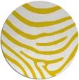 rug #1136883 | round yellow animal rug