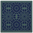 rug #1137335 | square blue graphic rug