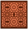 rug #1137515 | square red-orange borders rug