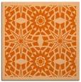 rug #1137571 | square red-orange graphic rug