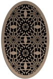 rug #1137675 | oval beige geometry rug