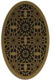 rug #1137683 | oval black graphic rug