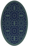 rug #1137703 | oval blue graphic rug