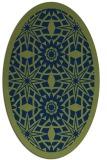 rug #1137707 | oval green borders rug