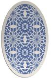 rug #1137711 | oval blue borders rug