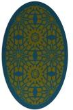 rug #1137740 | oval graphic rug