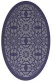 rug #1137751 | oval blue-violet borders rug