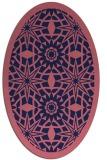rug #1137755 | oval pink graphic rug