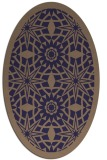 rug #1137767   oval blue-violet borders rug