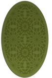 rug #1137787 | oval green borders rug