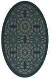 rug #1137791 | oval green borders rug