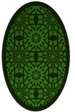 rug #1137803 | oval light-green rug