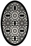 rug #1137807 | oval borders rug
