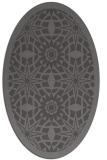 rug #1137815 | oval mid-brown borders rug
