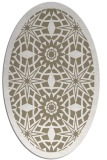 rug #1137823 | oval white borders rug