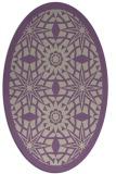 rug #1137847 | oval beige graphic rug