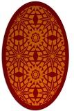 rug #1137871 | oval orange borders rug
