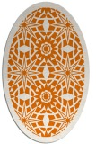 rug #1137875 | oval orange borders rug