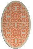 rug #1137879 | oval orange geometry rug