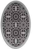 rug #1137883 | oval orange borders rug