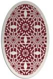 rug #1137891 | oval pink graphic rug