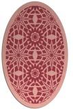 rug #1137895 | oval pink graphic rug