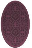 rug #1137903 | oval purple borders rug